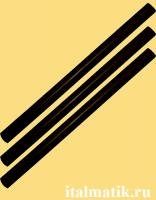 Термоклей цветной черный