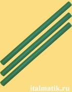 Термоклей цветной зеленый