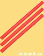 Термоклей цветной красный
