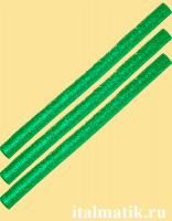 Термоклей метталик зеленый
