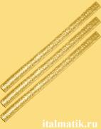 Термоклей метталик золотой