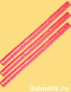 Термоклей метталик красный
