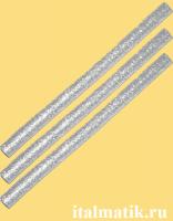 Термоклей метталик серебро