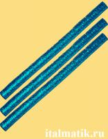 Термоклей метталик синий