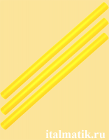 Термоклей цветной желтый