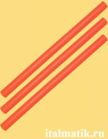 Термоклей цветной оранжевый