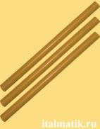 Термоклей цветной светло-коричневый